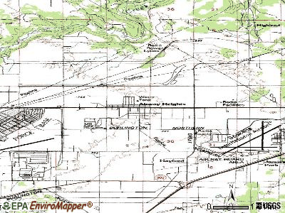 Airway Heights topographic map