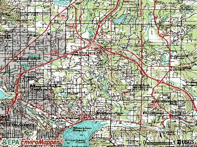 Alderwood Manor topographic map