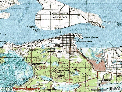 Anacortes topographic map