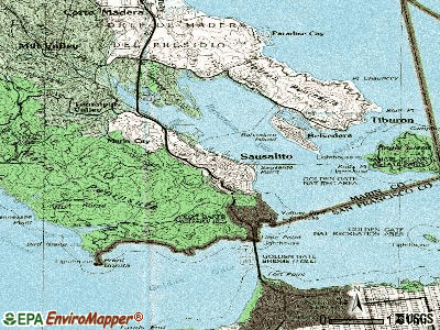 Sausalito topographic map