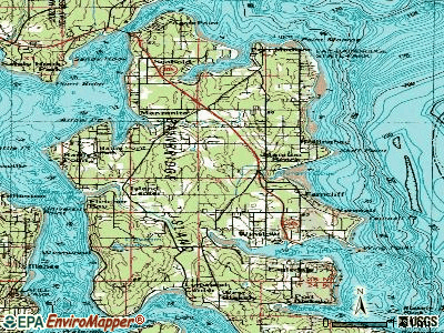 Bainbridge Island topographic map