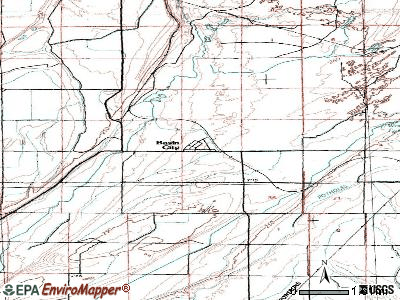 Basin City topographic map
