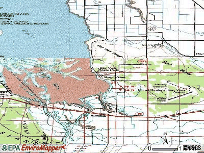 Bay View topographic map