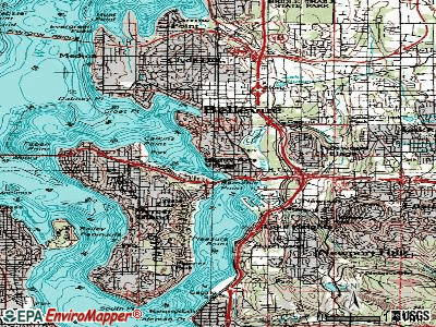 Beaux Arts Village topographic map