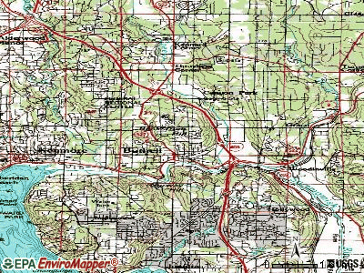 Bothell topographic map