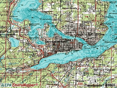 Bremerton topographic map