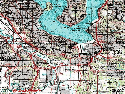 Bryn Mawr-Skyway topographic map