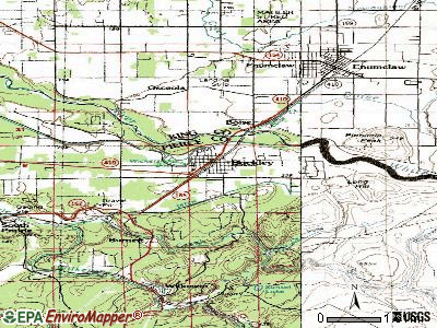 Buckley topographic map