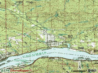 Carson River Valley topographic map
