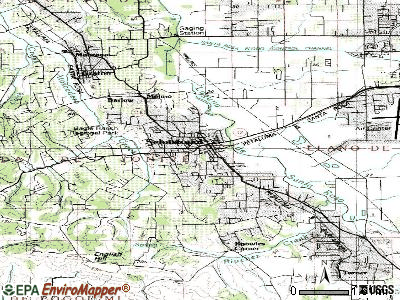 Sebastopol topographic map