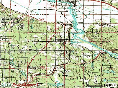Cathcart topographic map