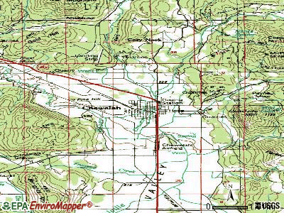 Chewelah topographic map