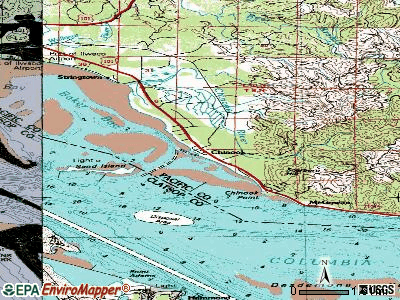 Chinook topographic map