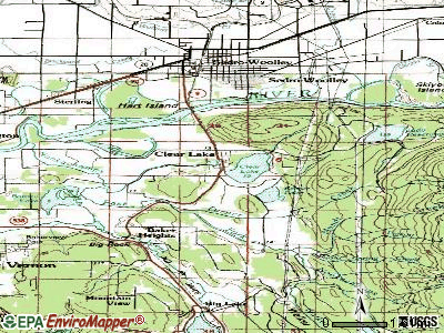 Clear Lake topographic map
