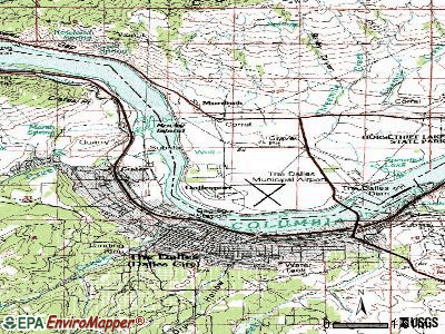 Dallesport topographic map