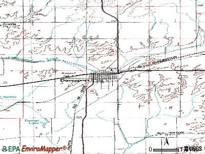 Davenport topographic map