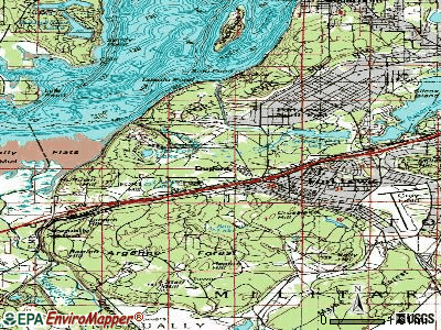 DuPont topographic map