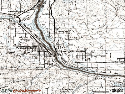 East Wenatchee topographic map