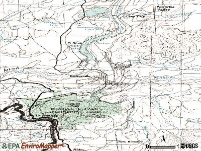 Eatonville topographic map