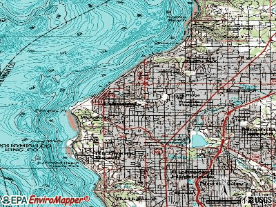 Edmonds topographic map