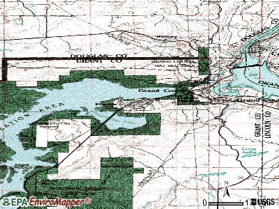 Electric City topographic map
