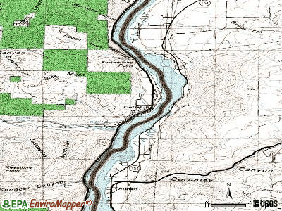 Entiat topographic map
