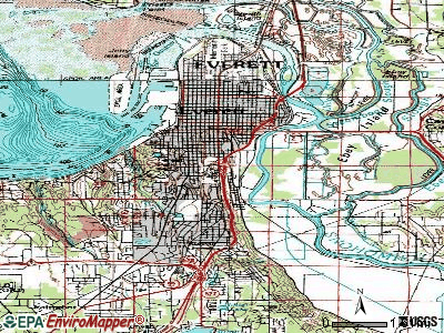 Everett topographic map