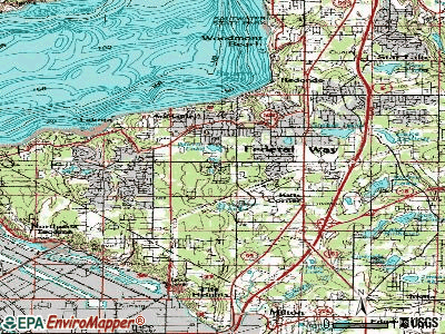 Federal Way topographic map