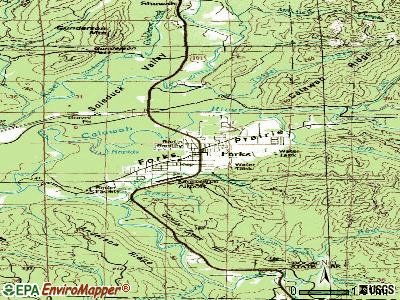 Forks topographic map