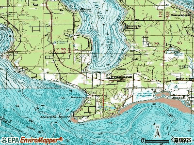 Freeland topographic map