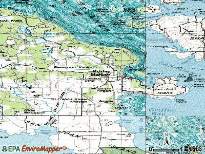 Friday Harbor topographic map