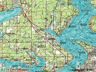 Gleed topographic map
