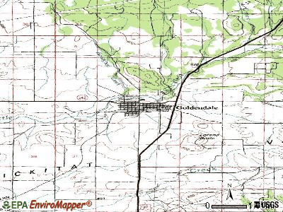 Goldendale topographic map