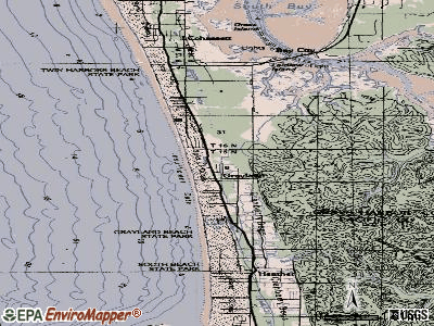 Grayland topographic map