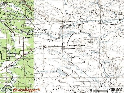 Green Acres topographic map
