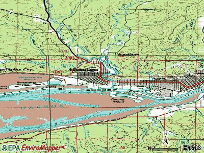 Hoquiam topographic map