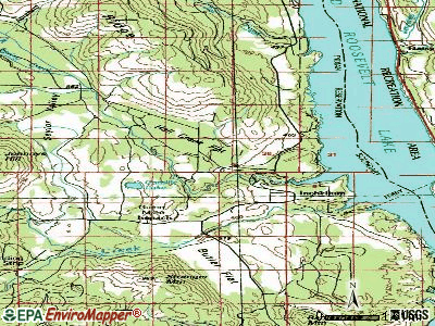 Inchelium topographic map
