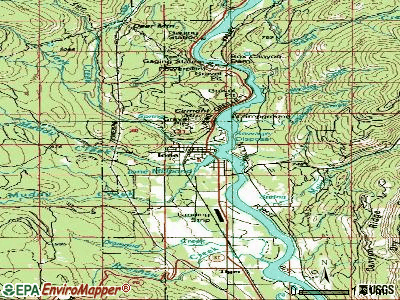 Ione topographic map