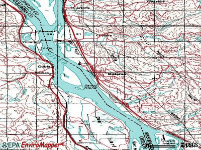 Kalama topographic map