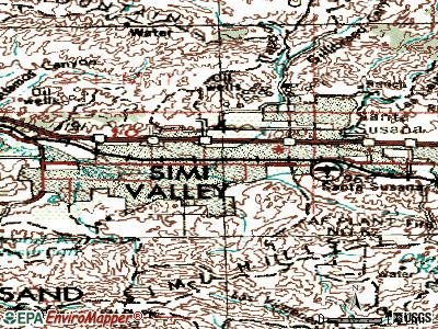 Simi Valley topographic map