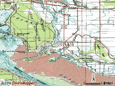 La Conner topographic map