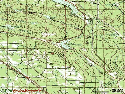 Lake McMurray topographic map