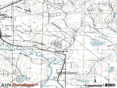 Lake Marcel-Stillwater topographic map