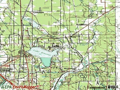 Lake Stevens topographic map