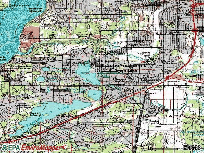 Lakewood topographic map