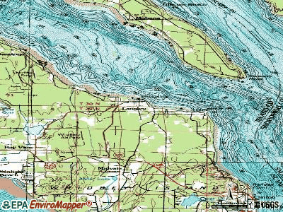 Langley topographic map