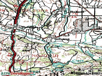 Solvang topographic map