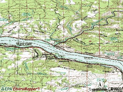 Lyle topographic map