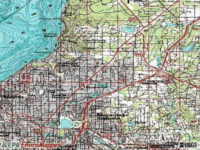 Lynnwood topographic map