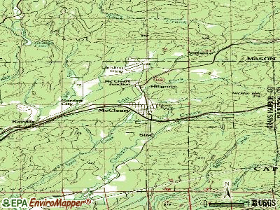 McCleary topographic map